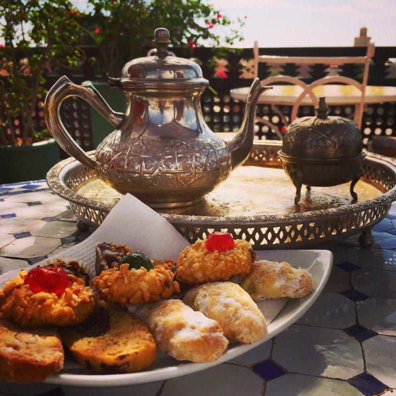 Acalorada recepção no Riad Marrakech