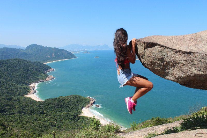 Pedra do Telégrafo no Rio de Janeiro (Foto: Dayana Souza)