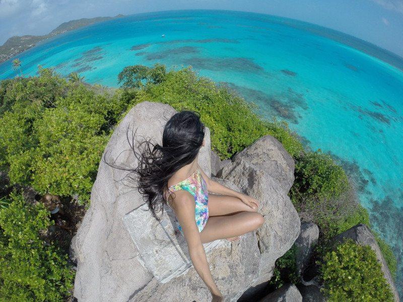 Mirante na Ilha de Providencia San Andres no Caribe Colombiano