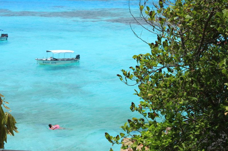 Praia na Ilha Providencia em San Andres no Caribe Colombiano