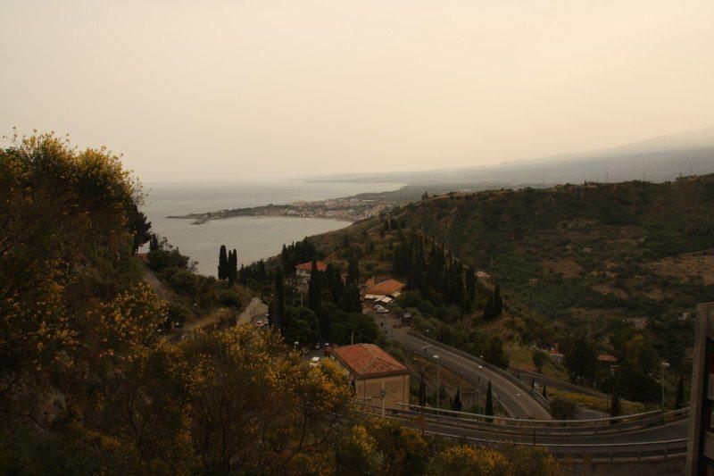 Vista de Taormina na Itália