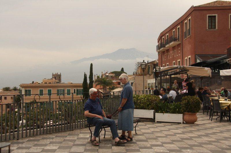 Vista do Vulcão Etna em Taormina