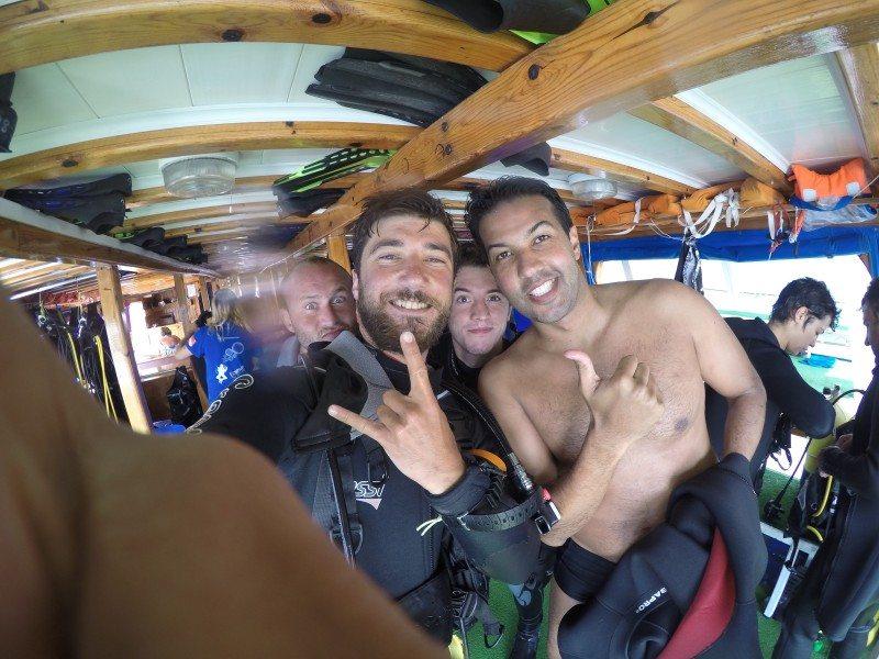 Equipe de mergulho - Fethiye