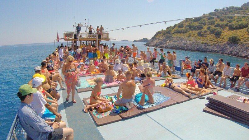 Boat tour em Öludeniz na Turquia