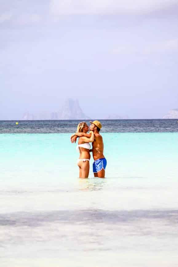 Mar cristalino de Ibiza