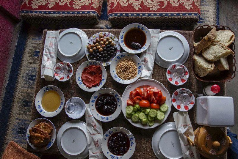 café da manhã em bursa na turquia