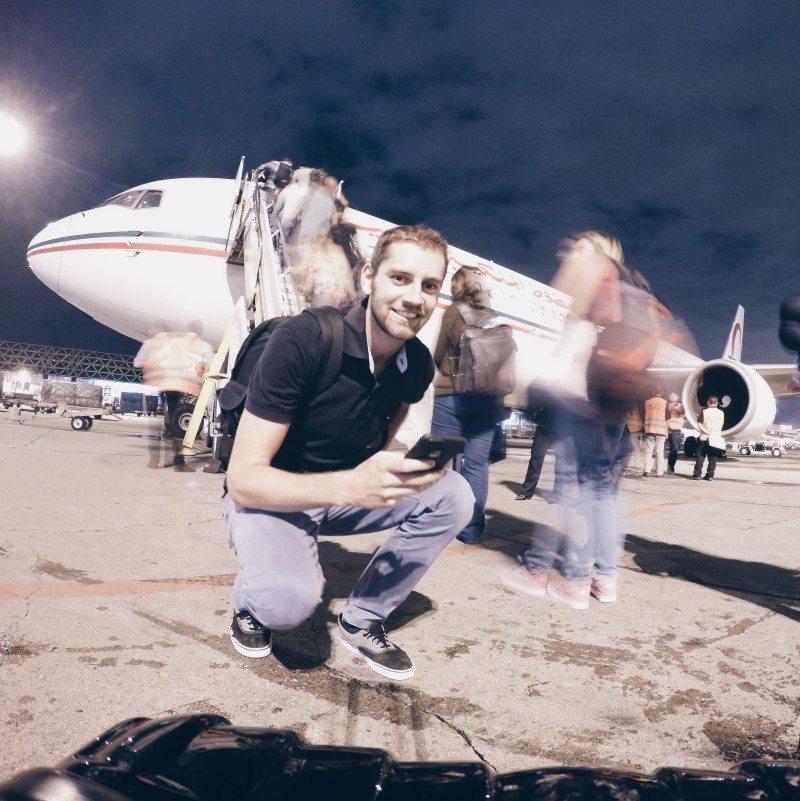 voando pela royal air maroc