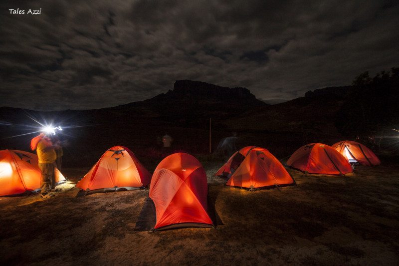 acampamento rio trek