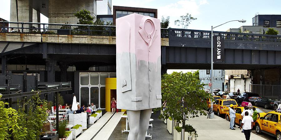 arte contemporanea nas ruas do bairro Chelsea em Nova York