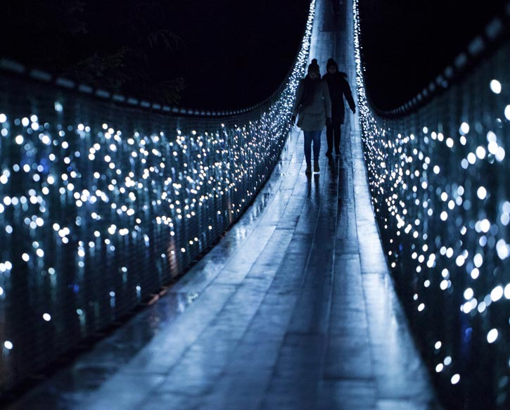 Luzes de Natal no Capilano Suspension Bridge Park