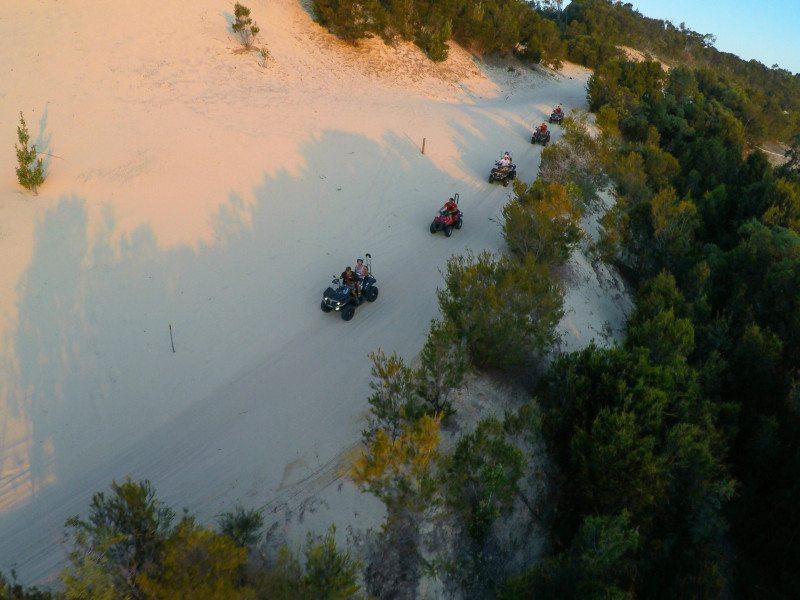 ilha moreton australia drone