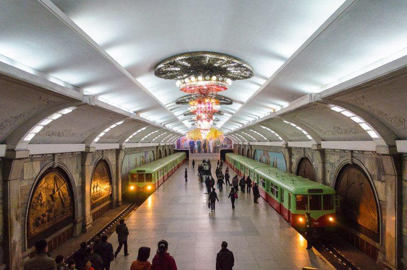 estação de metro coreia do norte