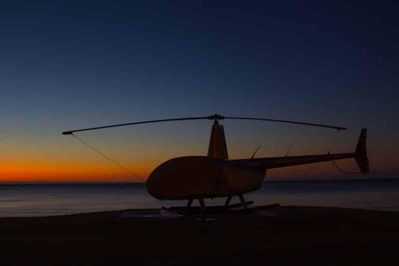 por do sol helicoptero ilha moreton australia