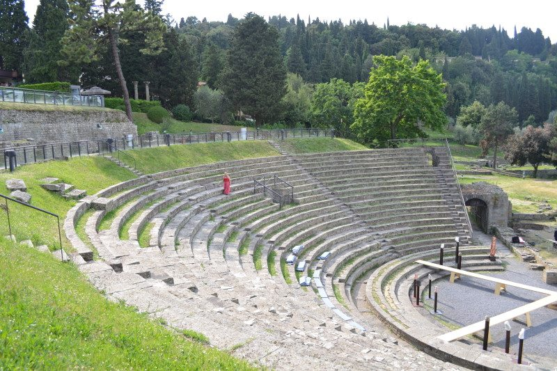 teatro romano de fiesole florença italia