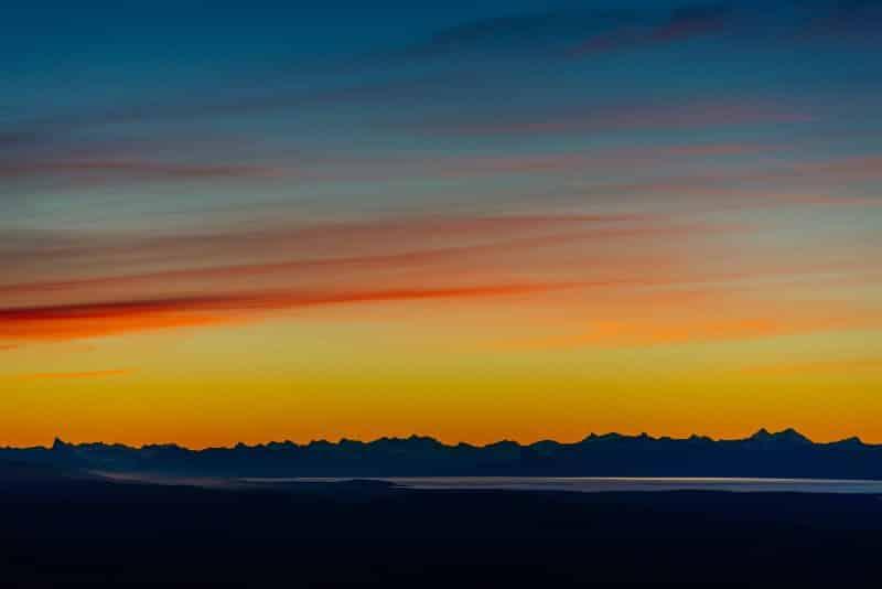por do sol viagem para a patagonia
