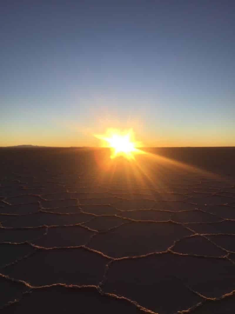 nascer do sol salar de uyuni
