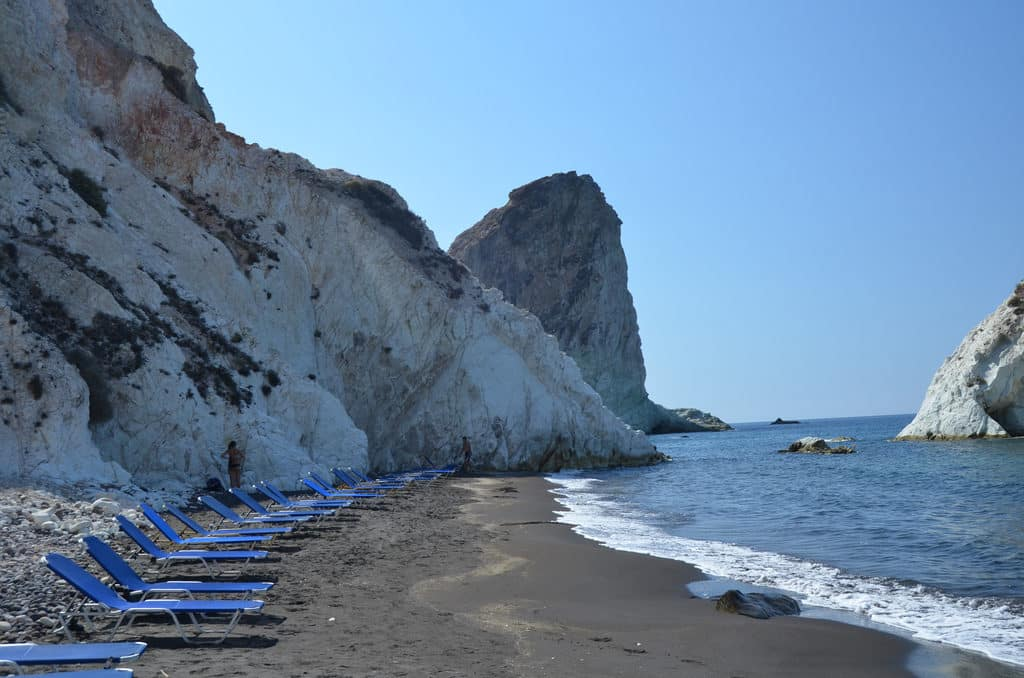 orla da praia de santorini - ilhas gregas