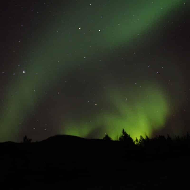aurora boreal no canadá
