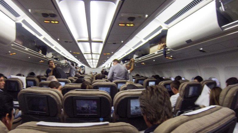 Swiss Air | lugar mais sujo dentro de um avião