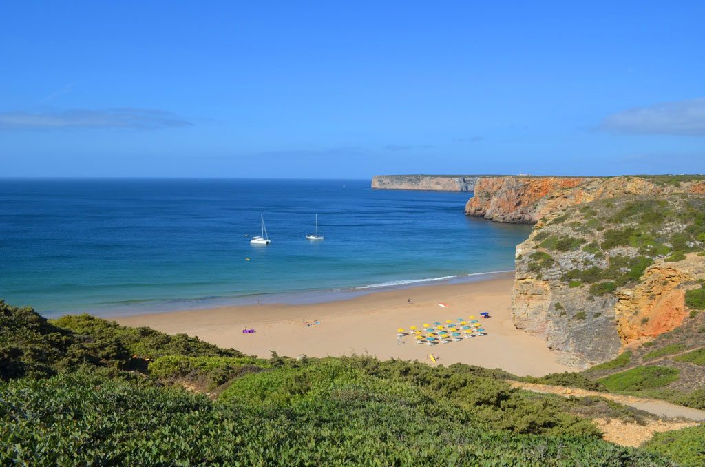 A Praia do Beliche, em Sagres, na região do Algarve.