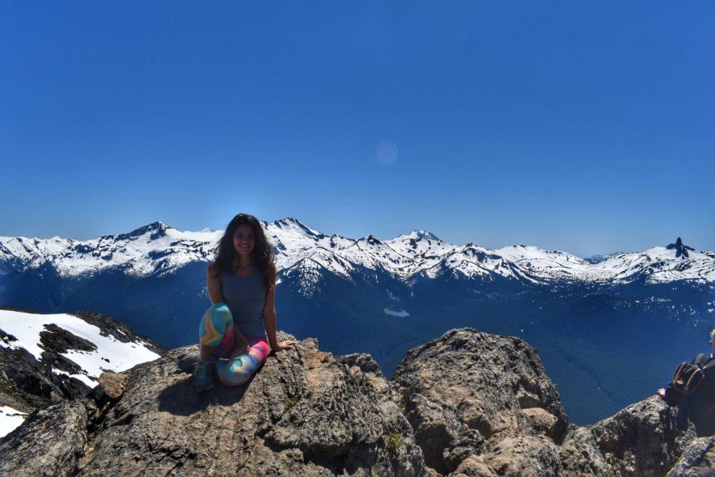 Blackcomb Mountain em Whistler. É possível subir através da Peak 2 Peak Gondola. Foto: Virginia Falanghe