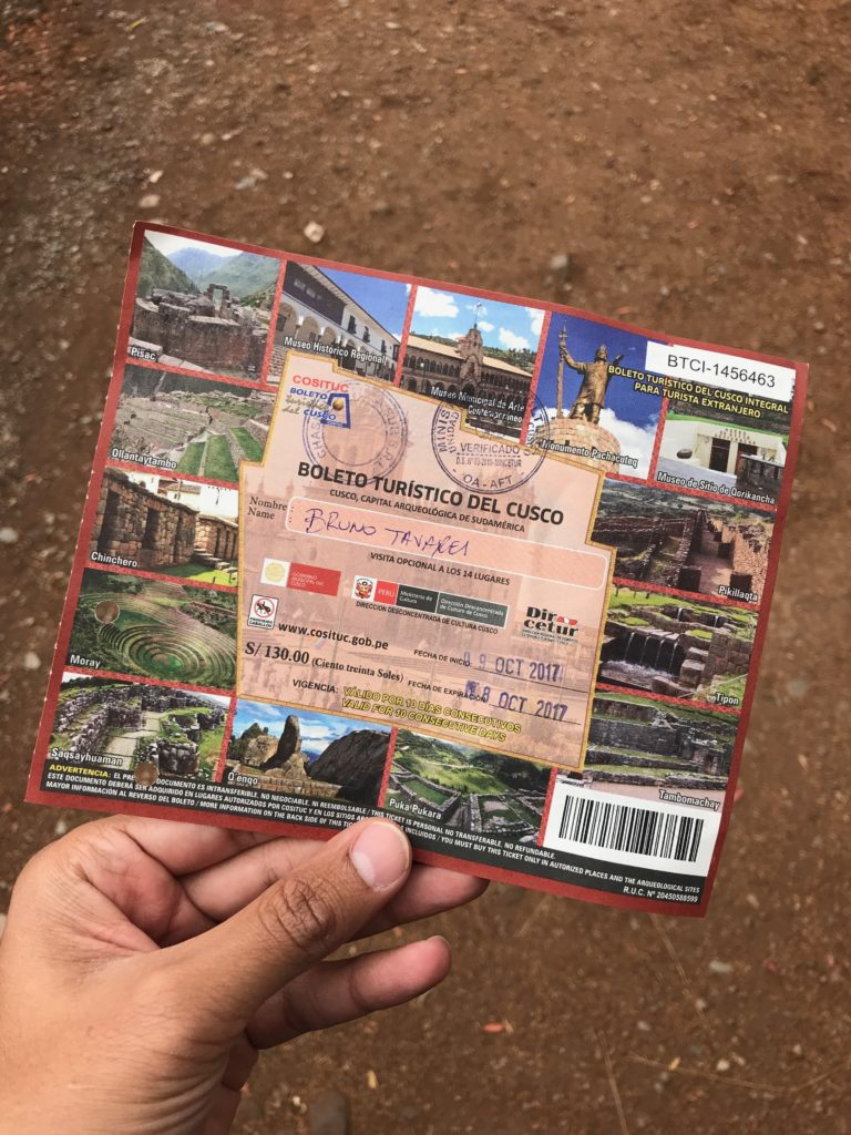 Boleto turístico para a cidade de Cusco