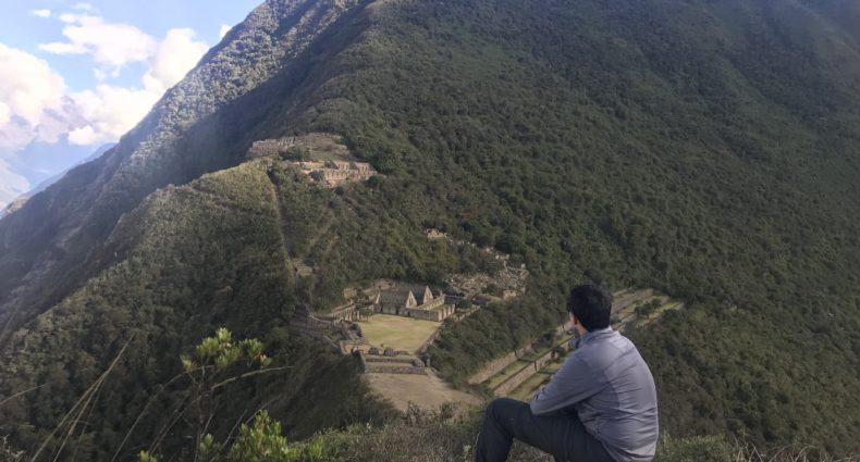 Vista do alto das ruinas de Choquiquerao