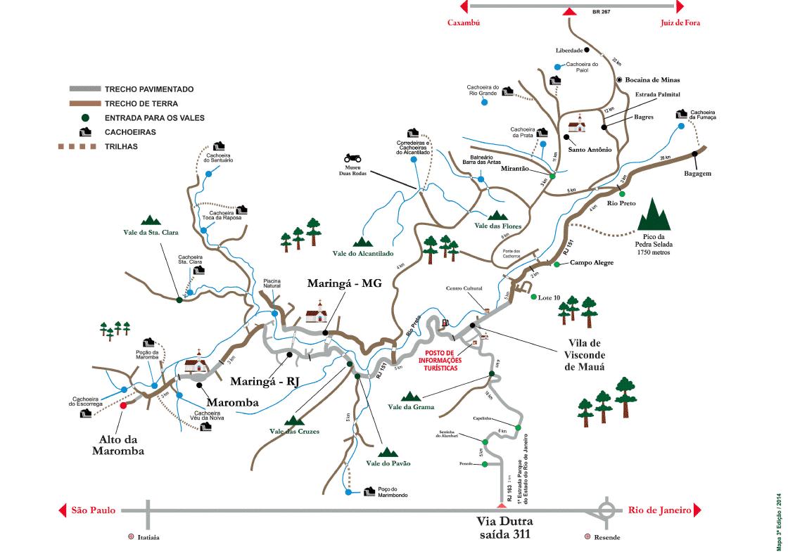 mapa de visconde de maua