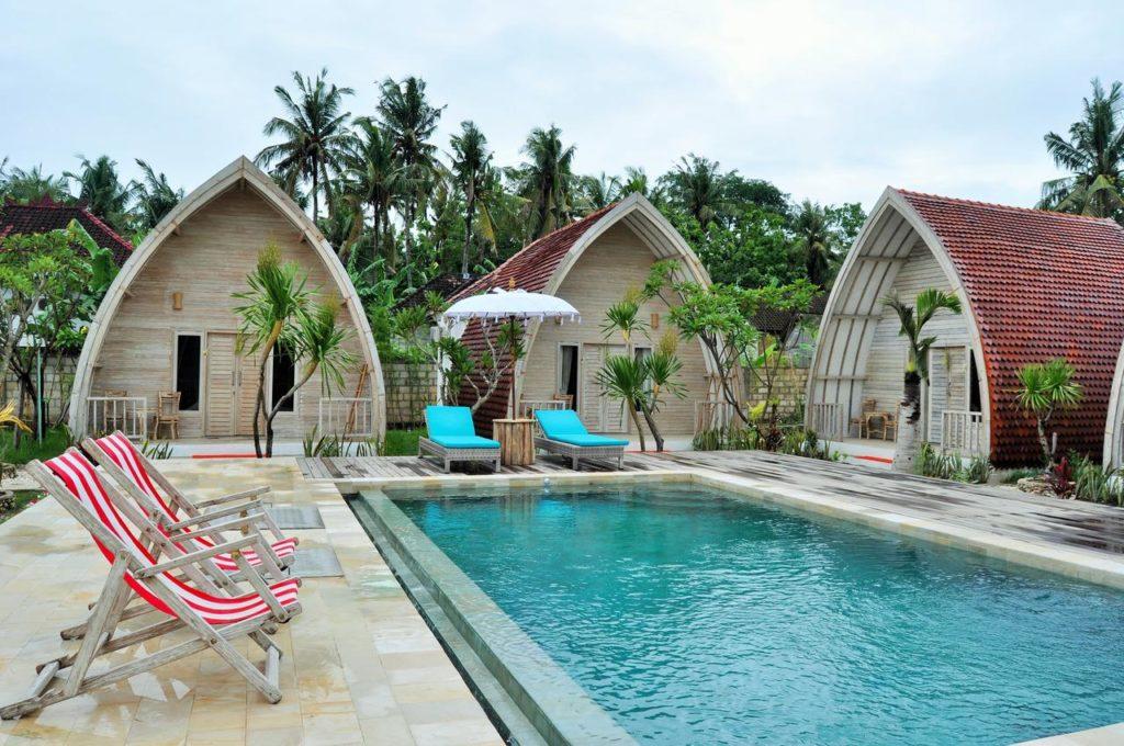 Onde ficar em Nusa Penida, La Roja Bungalows