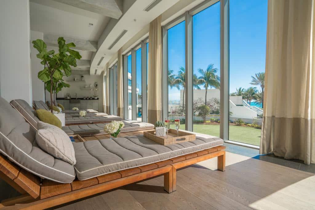 área spa do Eden Roc Miami - Hoteis em Miami Beach