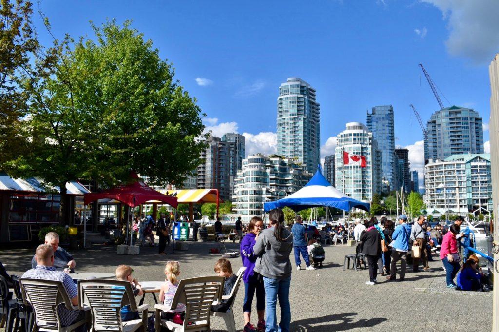 Gainsville Island, parada indispensável para um almocinho em Vancouver.