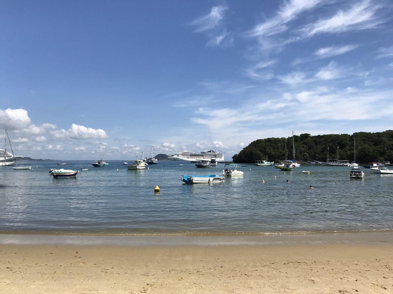 Praia tranquila e linda praticamente privada no Hotel vila da Santa