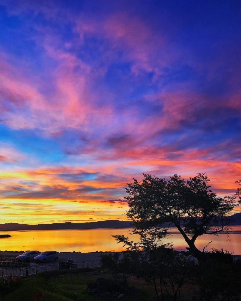 Paisagem do nascer do sol no Fim do Mundo - Argentina