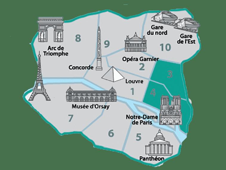 Onde ficar no Le Marais - 3º e 4º Arrondissement