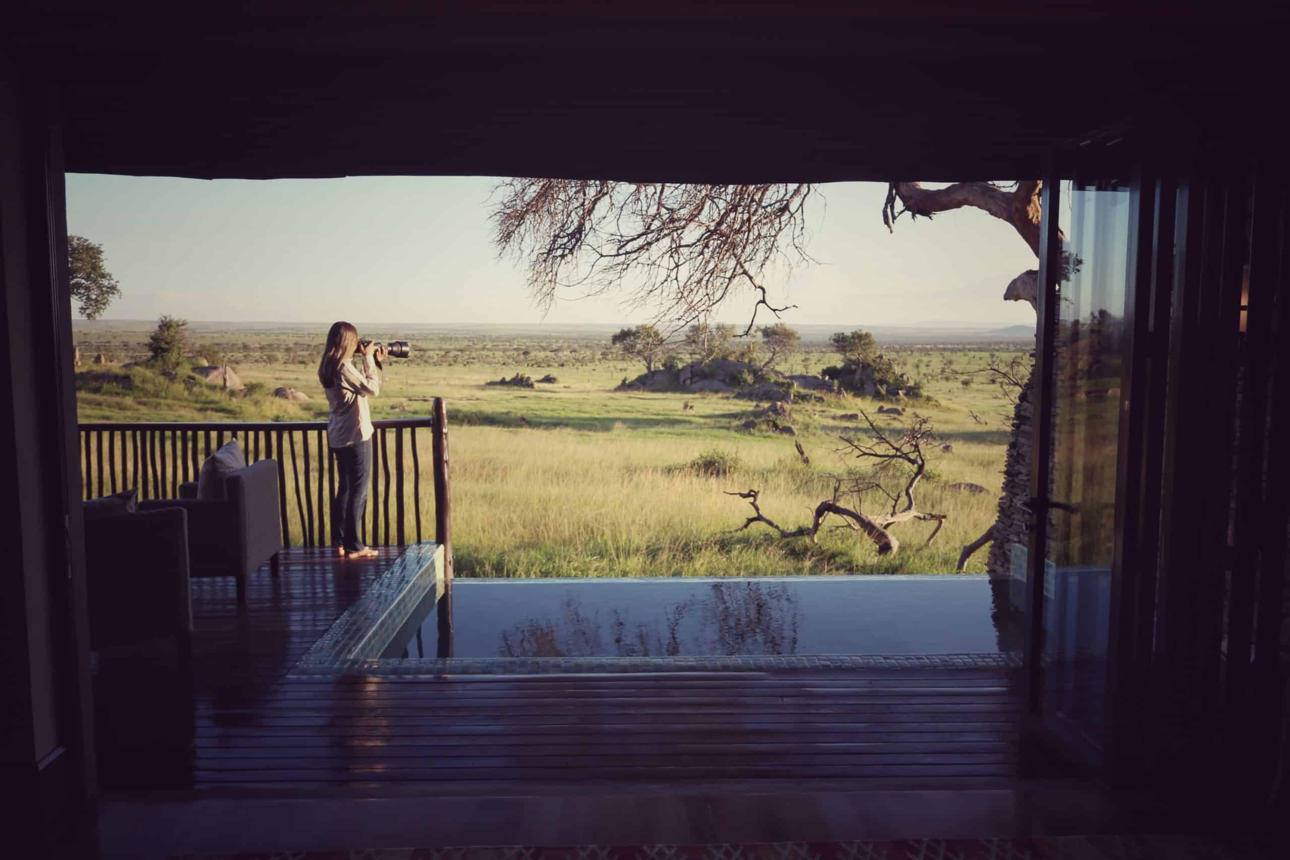 Varanda do Quarto no Four Seasons Serengeti Lodge na Tanzania