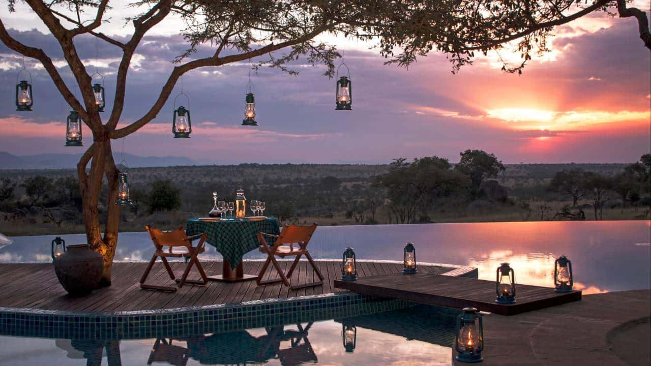 Jantar especial para a última noite no Four Seasons Serengeti