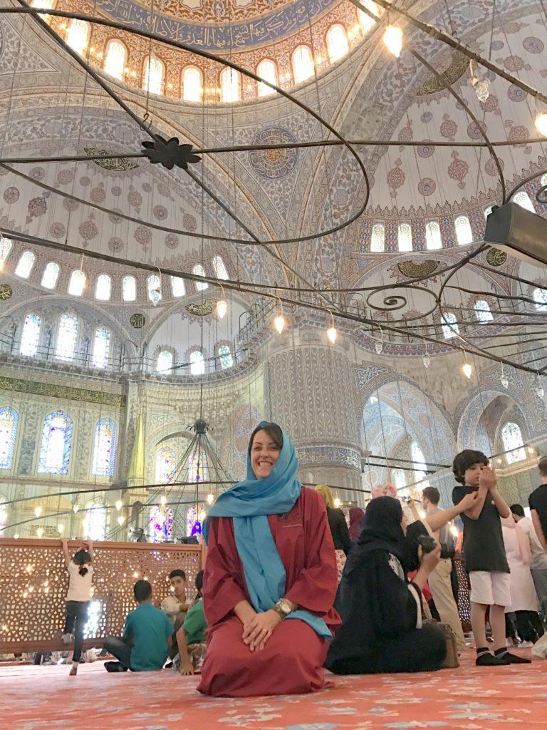 Mesquita Azul em Istambul na Turquia que conhecemos com a Guia Turca