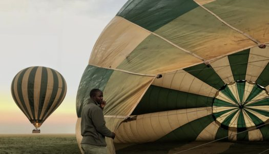 Passeio de balão no Serengeti, Tanzânia