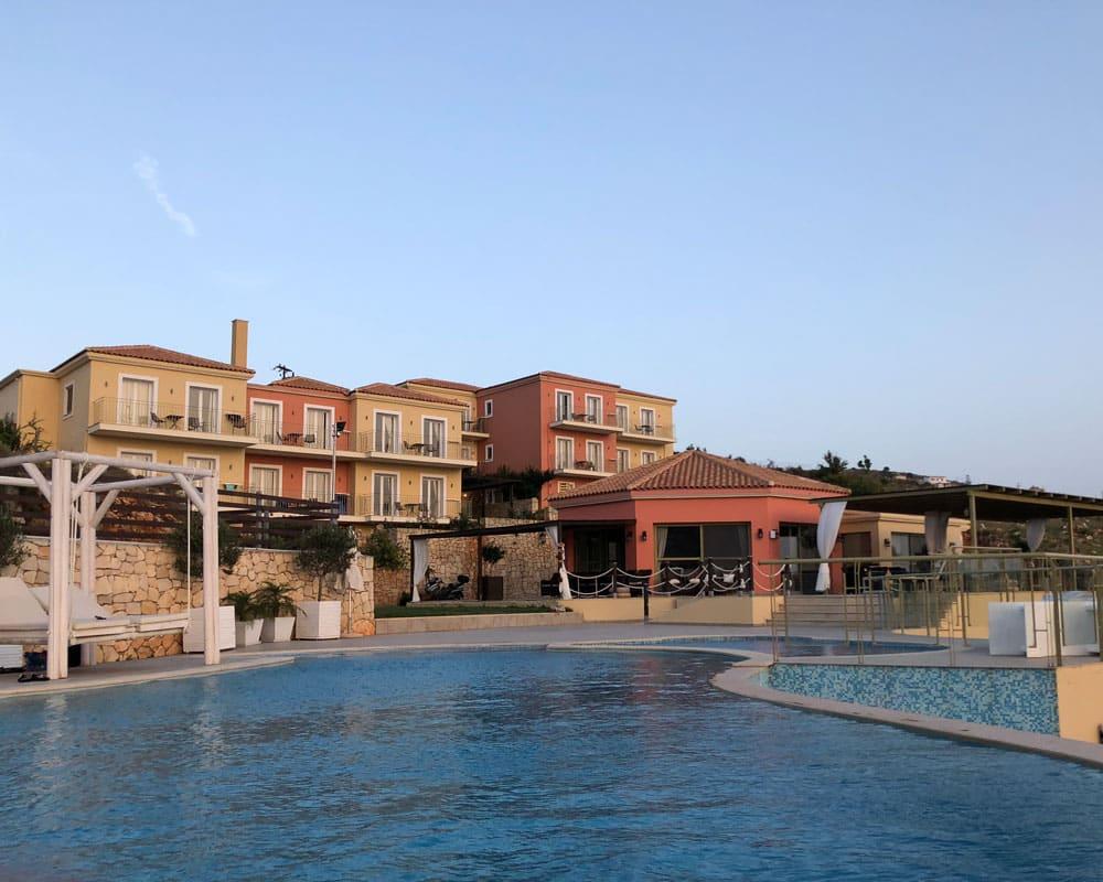 Hotel Petani Bay, em Kefalonia na Grecia