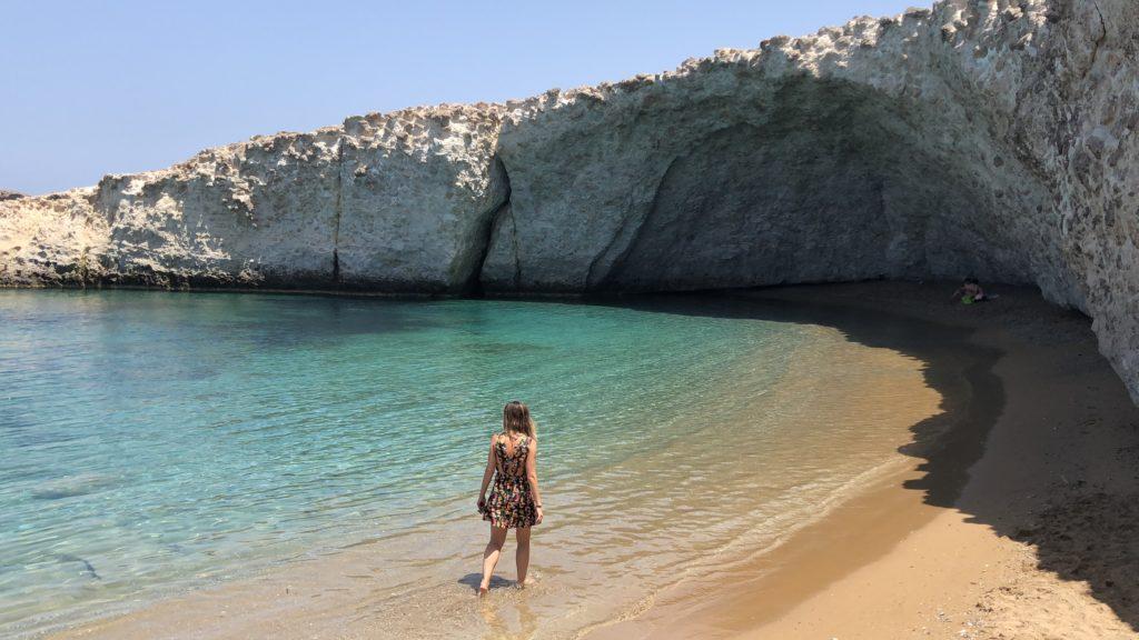 Praias prediletas em Milos