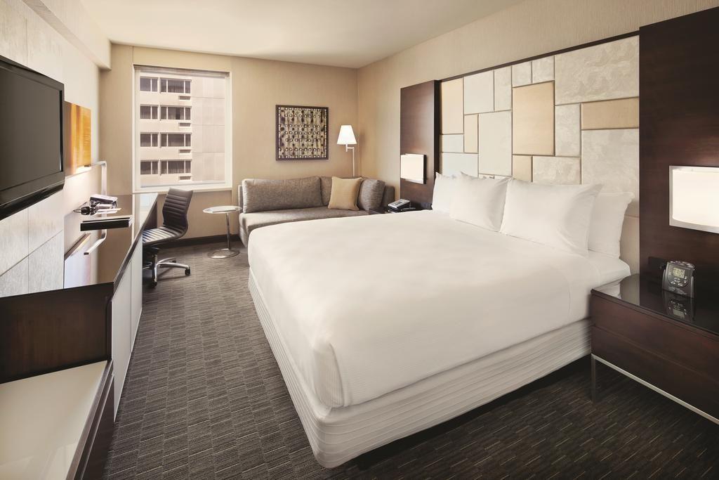 Quarto de casal no Hilton Union Square, opção de onde ficar em San Francisco