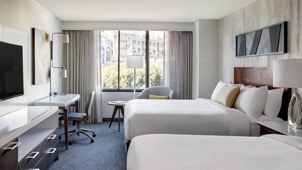 Onde ficar em São Francisco - quarto do hotel Marriott
