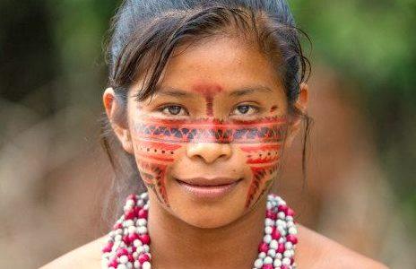 Uma tribo indígena na Amazônia