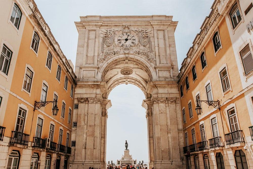 Onde ficar em Lisboa - Praça do Comércio em Lisboa, Portugal
