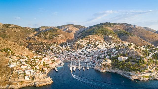 Vista da Ilha de Hydra na Grecia Turismo | Dicas de Viagem