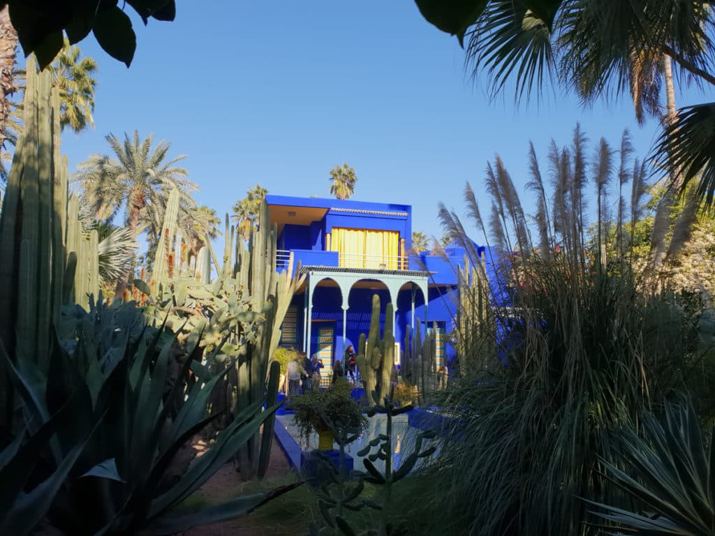 A casa Azul Majorelle em Marrakech, Marrocos