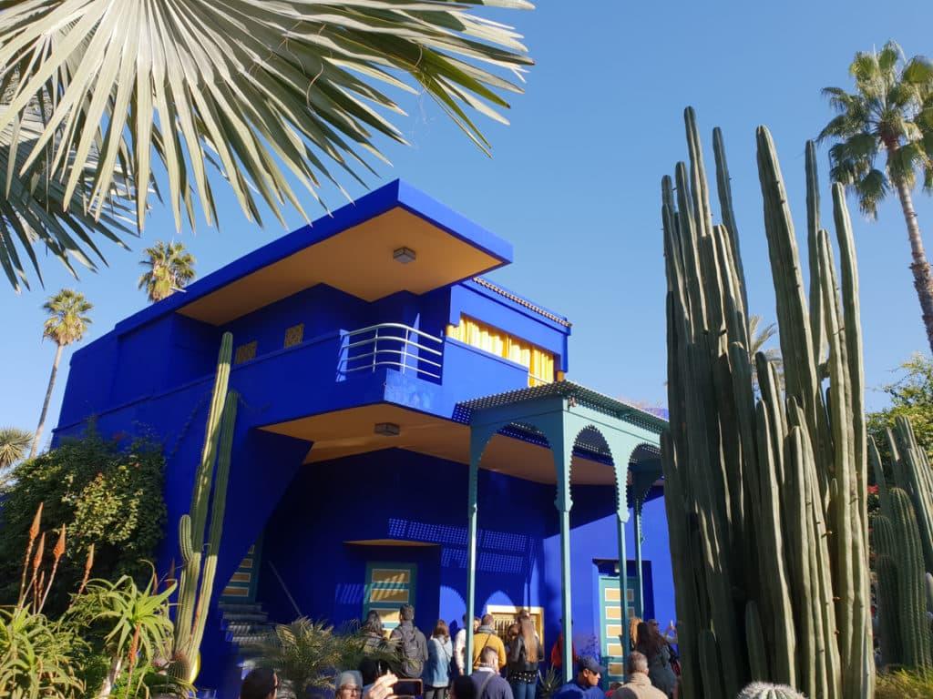 A casa azul do Jardim Marjorelle