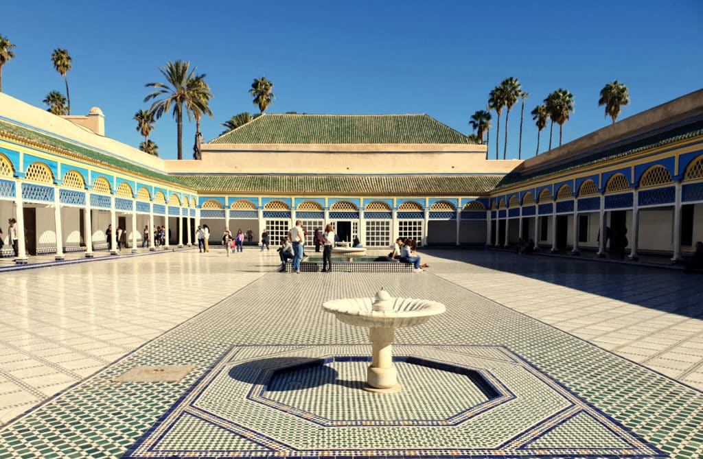 Palácio da Bahia em Marrakech, Marrocos