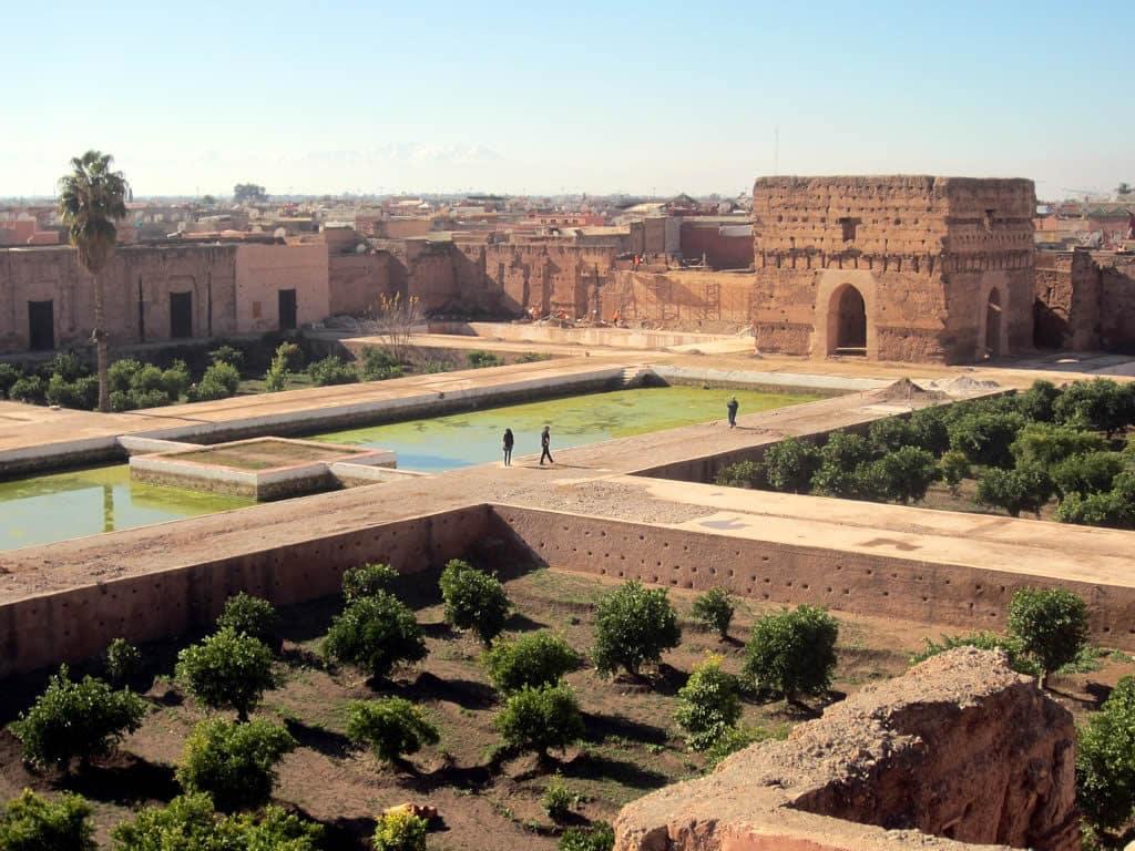 Palácio El Badi em Marrakech, Marrocos