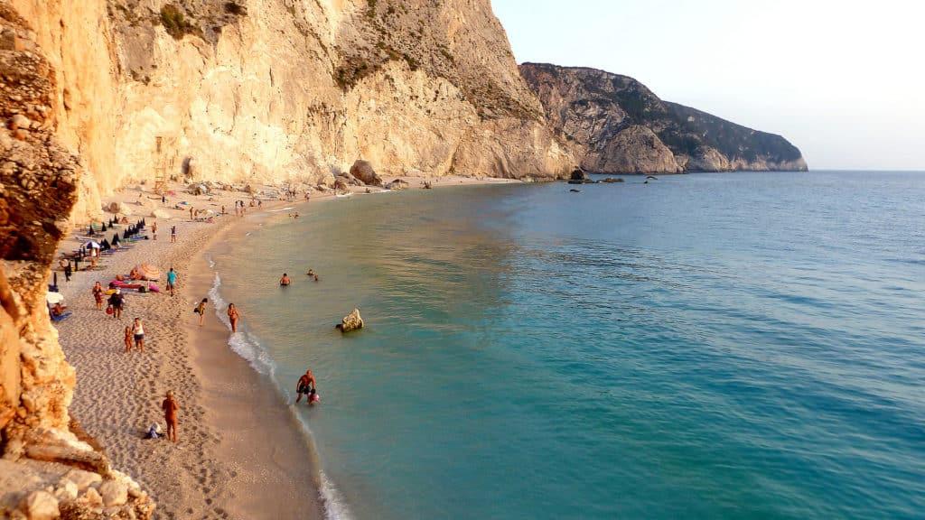 Uma das praias mais famosas de Lefkada , a Porto Katsiki Beach  -  Foto: Dimitris Karkanis via Flickr